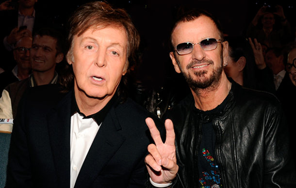 Beatles Ringo Starr Paul McCartney Reunite In Studio Joe Walsh Joins New Supergroup