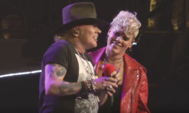 pink sings patience with guns n roses video sofa king cool magazine entertainment news. Black Bedroom Furniture Sets. Home Design Ideas
